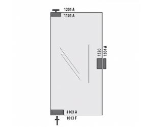 Kit Dobradiça para Porta pivotante