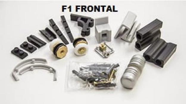 Kit F1 para Box  Frontal 1 Fixo 1 Porta Altura Padrão 1,900